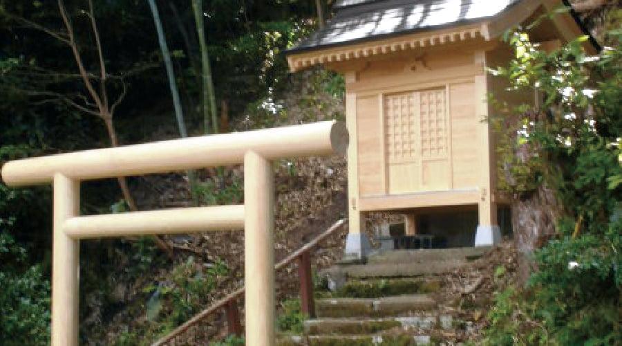 『大崎白山神社』鳥居建替え・社再建工事